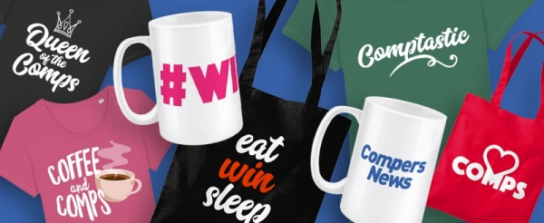 Find your perfect comping mugs, t-shirts and tote bags