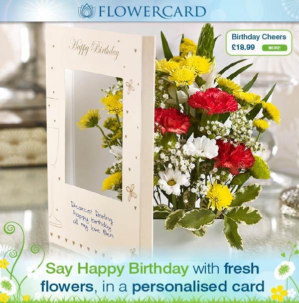 Say Happy Birthday with fresh flowers