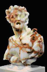 Envy. Mexican Onyx, Stainless Steel. © 2008-2011 Barry X Ball. After Giusto Le Court (1627 - 1679)