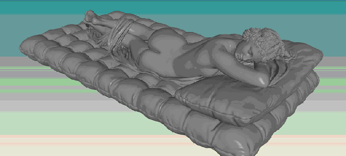 Sleeping Hermaphrodite healed, unioned and rendered in Polygonica (24M triangles). © 2014 MachineWorks Ltd.